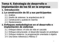 Estrategia de desarrollo e implantación de los SI en la empresa