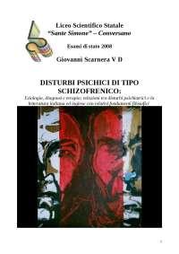 Tesina sulla schizofrenia