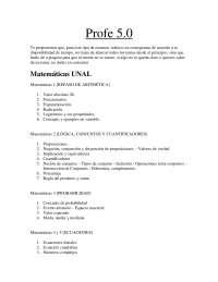 Temas Unal, Matemáticas, biología, física, análisis de imagen, sociales, análisis textual