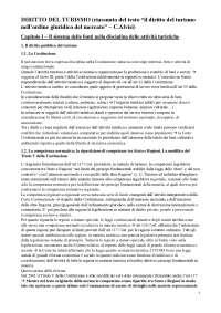 """Riassunto """"Il diritto del turismo nell'ordine giuridico del mercato"""" di Chiara Alvisi"""