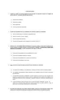 prueba de derecho laboral contiene algunas preguntas sobre como se evaluaria un examen preparatorio