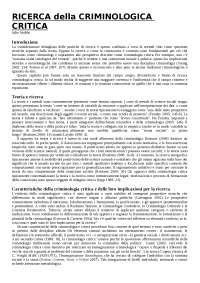 Traduzione 'Critical Criminological Research'