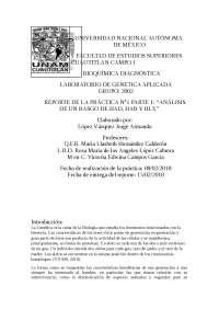 Reporte practica 1 Genetica aplicada FESC