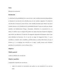 Tema: Método de convolución
