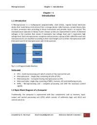 Microprocesor Chapter 1 Introduction