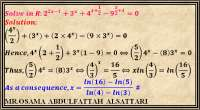 Exponential equation with one variable