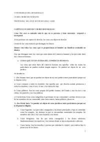 BIENES Y DERECHOS REALES, DERECHO ROMANO