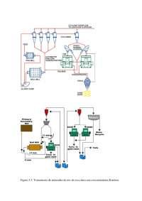 flow sheet con concentradores knelson