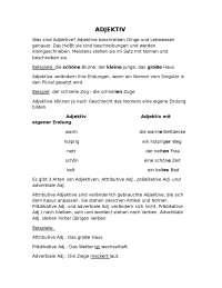 Pridjevi (Adjektive), pravila, vrste i primjeri