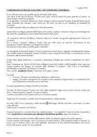 spiegazione Lucio Fontana e Leonardo da Vinci. Un confronto possibile