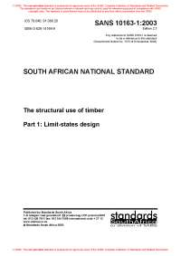 SABS standards to eurocode