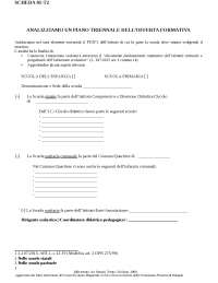 Scheda di analisi di un PTOF