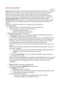 Politica Comparata-Prof. Davide Grassi