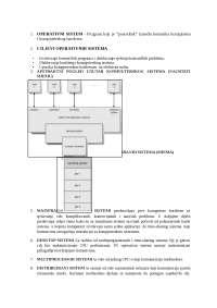 Operativni sistemi i sistemski softver