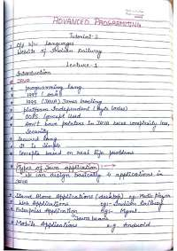java programming notes
