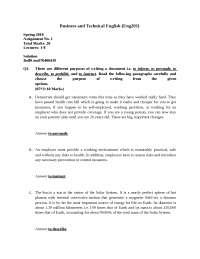 Business Engliash & Techinchal English Writing