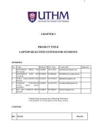 laptop selection proposal