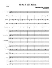 Fiesta san Benito - partitura