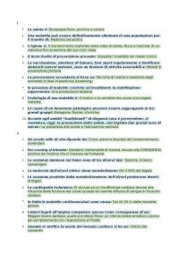 Domande e risposte Igiene generale Scienze Motorie Pegaso