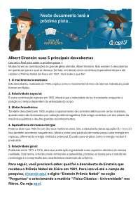 Albert Einstein e seus 5 descobrimentos principais