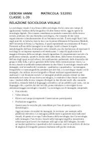 Relazione di sociologia visuale
