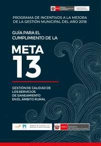 META N° 13 2018 CUMPLIMIENTO DE META