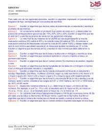 Ejercicios de informática, de programación básica en PSEint
