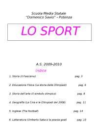 Tesina Sullo Sport E Su La Passione Docsity