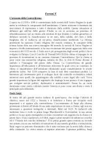 Riassunto quinto volume G.Ferroni