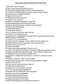 Ispitna pitanja MEĐUNARODNO POSLOVNO PRAVO