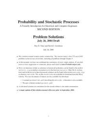 Probability solution