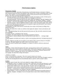 Appunti / riassunti morfosintassi inglese