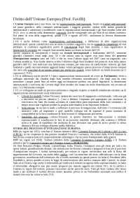 Diritto dell'UE - appunti completi lezioni Prof Favilli