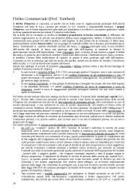 Diritto commerciale - appunti completi lezioni Prof Tombari