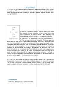 obtención del ácido cítrico