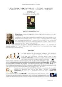 """RIASSUNTO LIBRO """"HOMO VIDENS: TELEVISIONE E POSTPENSIERO"""" (SINTETICO 2) - GIOVANNI SARTORI - LATERZA"""
