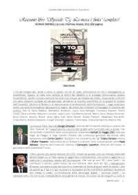 """RIASSUNTO LIBRO """"SPECIALE TG: LA MESSA E' FINITA"""" (COMPLETO) - GIORGIO SIMONELLI - INTERLINEA - NOVARA - 2012"""