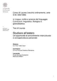 TESI TRIENNALE - Studiare all'estero - Giubertoni Giulia-Nemeye - matricola 849321