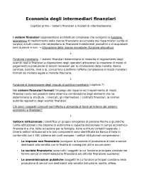 Economia degli intermediari finanziari - BANFI, BIASIN, BORRONI, ORIANI, RAGGETTI - Terza edizione