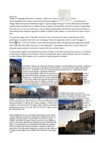 Brochure per una visita alla città di perugia