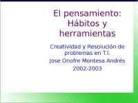 PPT sobre el pensamiento (psicologia)