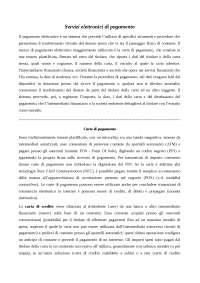 TESINA DIRITTO DELL'INTERNET - Mezzi di pagamento online