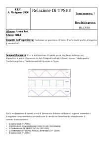Relazione tecnologia e progettazione sistemi automatici