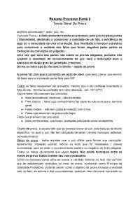 Resumo Processual Penal II