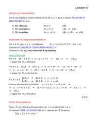 appunti di matematica discreta del primo anno