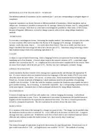 methodology for translation