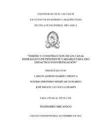 Diseño y construcción de un sistema hidráulico, Monografías, Ensayos de Hidráulica