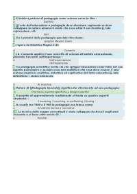 pedagogia speciale - risposte corrette