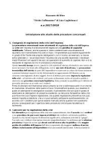 """riassunto libro """"diritto fallimentare"""" di Lino Guglielmucci ultima ed. 2017"""