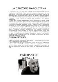 TESINA SU NAPOLI - ARGOMENTO DI MUSICA (LA CANZONE NAPOLETANA)